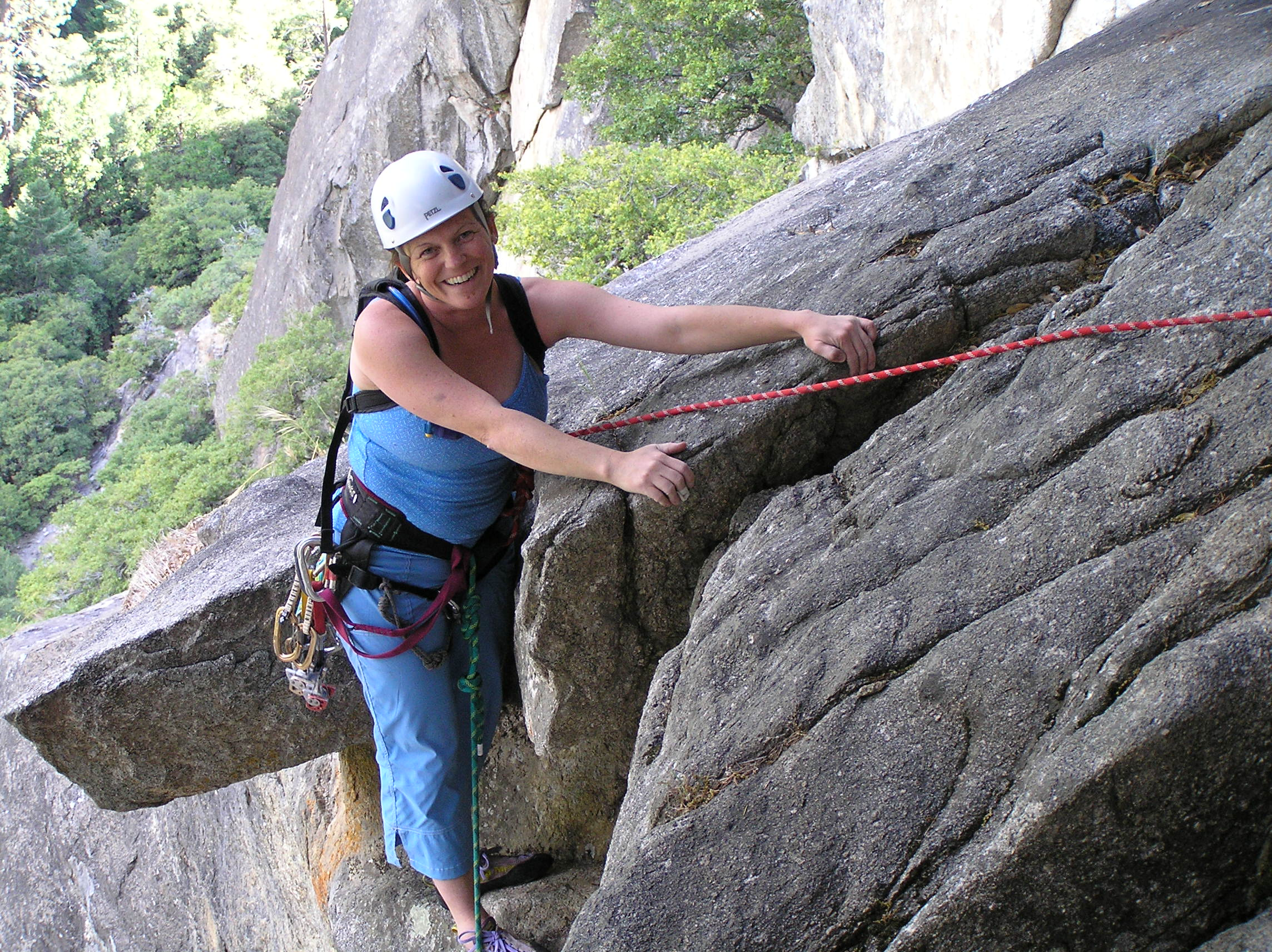 Janine on Hanging Teeth, Yosemite